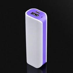 Lila Alumínium Power Bank tokszekrény készlet DIY 5000mah külső akkumulátor töltőhöz