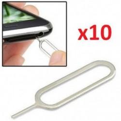 10 db 100Pc Protable SIM-kártya tálca Ejector Eject Pin kulcs eltávolítása eszköz az Apple iPhone