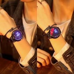 1x Digitális LED érintőképernyős hold csillag klasszikus karóra óra ajándék