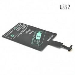 Micro USB 2 Univerzális QI vezeték nélküli töltő vevő töltőmodul a mikro-USB mobiltelefonhoz