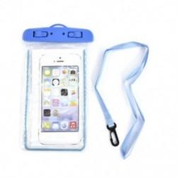 Kék Világító víz alatti tok vízálló száraz táska tok iPhone okostelefonokhoz