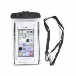 Fekete Víz alatti világító tok Vízálló száraz táska tok iPhone okostelefonokhoz