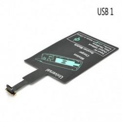 Micro USB 1 Univerzális QI vezeték nélküli töltő töltő vevő modul a mikro-USB mobiltelefonhoz