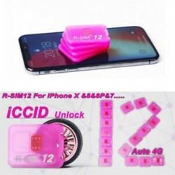 1db R-SIM 12 iPhoneX / 8 / 8p / 7 / 7p / 6s / 6sp / 6p 4G Nano feloldó kártyához ISO 12.2 10.x