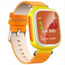 narancs 1db Anti-Lost Kids Biztonságos GPS Tracker SOS Call Smart Watch csukló Android IOS