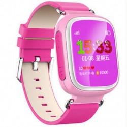 Rózsaszín 1 X Elveszett gyerekek Biztonságos GPS Tracker SOS Hívás Smart Watch csukló Android IOS