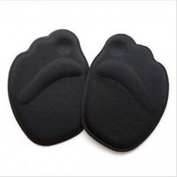 Fekete Puha talpú magas sarkú lábfejpárnák Elülső csúszásgátló talpbetét cipő lélegző
