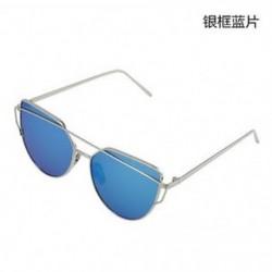 Ezüstkék Női retro fémkeret tükörre szabott napszemüveg túlméretezett macska szemüvegek szemüveg