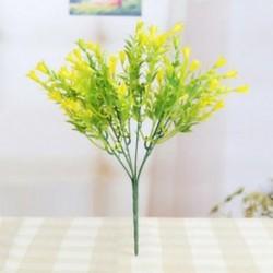 * 9 Sárga Virág csokor mesterséges selyem rózsa virág menyasszonyi esküvői fél váza dekoráció
