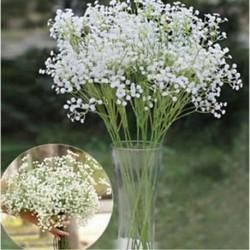* 10 Fehér Virág csokor mesterséges selyem rózsa virág menyasszonyi esküvői fél váza dekoráció