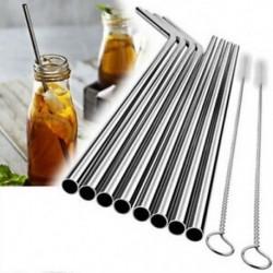 * 2 Ivó Szalma  2 Kefék Újrafelhasználható, rozsdamentes acélból készült fémszárító újrahasznosítható szalma