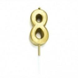 8. szám Kreatív Cake Topper gyertya &quot Boldog születésnapot&quot  10.-60th Party kellékek dekoráció