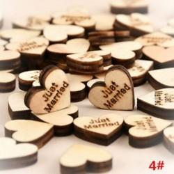 * 4 Csak házas 100db romantikus rusztikus fa szerelem szív esküvői asztal szétdíszítés dekoráció kézműves