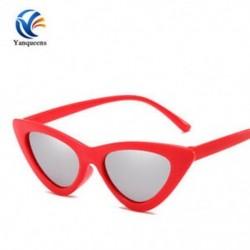 Piros keret   ezüst objektív Vintage női macska szem napszemüveg 2019Classic Designer divat árnyalatok szemüveg