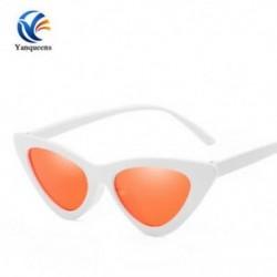 Fehér keret   piros lencse Vintage női macska szem napszemüveg 2019Classic Designer divat árnyalatok szemüveg