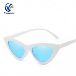 Fehér keret   kék lencse Vintage női macska szem napszemüveg 2019Classic Designer divat árnyalatok szemüveg