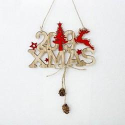 1db 2019 levél (15x10cm) DIY 3D Xmas fa fa medálok függő karácsonyi dekoráció Home Party Decor