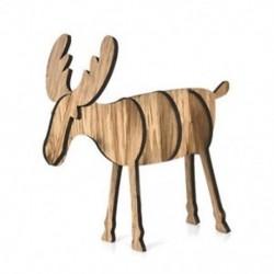 Kis tölgy színű 3D fa karácsonyi elk szarvas díszek karácsonyi fa függő dekoráció függő ajándék