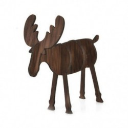 Kis dió színű 3D fa karácsonyi elk szarvas díszek karácsonyi fa függő dekoráció függő ajándék
