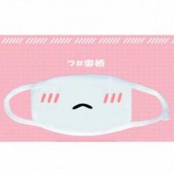 Fehér * 4 Unisex téli meleg száj por elleni influenza arcmaszk Sebészeti légzőmaszk Új