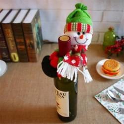 * 17 Hóember Santa nadrág karácsonyi Candy táskák Bor harisnya üveg ajándék táska Xmas dekoráció
