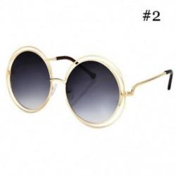 * 2 Túlméretezett kerek napszemüveg divat női nagy méretű nagy retro árnyalatú napszemüveg
