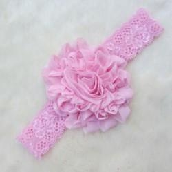 Rózsaszín Baba gyerekek lány nyújtás aranyos csipke virág fejfedők haj dekoráció fejfedő fejpánt