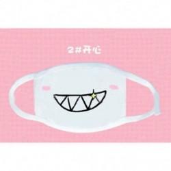 2 * Unisex aranyos anime érzelem száj-muffle Kaomoji porvédő arcmaszk Kawaii Új