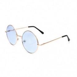 Kék Női retro kerek szemüveg lencsés napszemüveg divat szemüvegek műanyag keret szemüveg