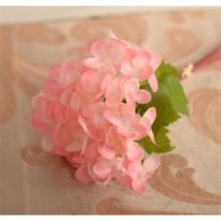 * 2 Pink Mesterséges virág csokor selyem rózsa virág otthon menyasszonyi esküvői party dekoráció