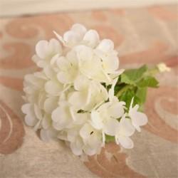 fehér Mesterséges hortenzia csokor selyem virágok levél esküvői menyasszonyi party lakberendezés