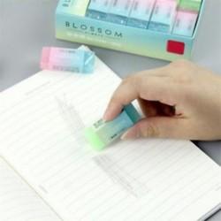 1x puha tartós, rugalmas kocka aranyos színes ceruza gumi Erasers iskolai gyerekeknek