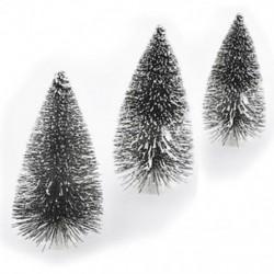 Karácsonyi ünnep fesztivál fél mesterséges mini karácsonyfa díszek dekoráció