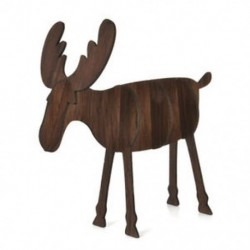 Nagy dió színű Fa karácsonyi elk szarvas díszek Xmas fa függő dekoráció dísz medál legjobb ajándék