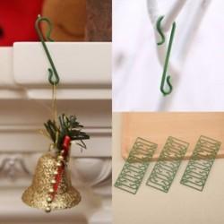 100db 100db karácsonyfa DIY lógó horog Xmas fa medál otthon díszek dekoráció