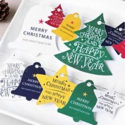 színezése Boldog karácsonyt lógó kártya díszek ajándék címke esküvői party karácsonyi otthoni dekoráció
