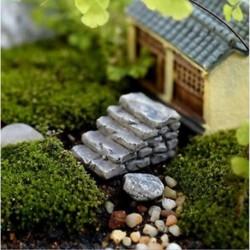 1PC Gary Straight Step Miniatűr kézműves növényi tündérfűke babaház dekoráció kerti dísz DIY új