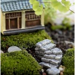 1PC Gary hajlítási lépés Miniatűr kézműves növényi tündérfűke babaház dekoráció kerti dísz DIY új