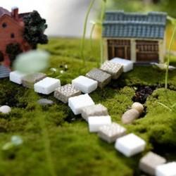 Kő Miniatűr kézműves növényi tündérfűke babaház dekoráció kerti dísz DIY új