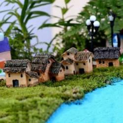 Ház Miniatűr kézműves növényi tündérfűke babaház dekoráció kerti dísz DIY új