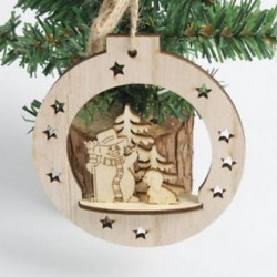 1PC karácsonyi bál (10 * 10 cm) 3D karácsonyi fa medálok függő fa DIY karácsonyi dekoráció otthon fél dekoráció