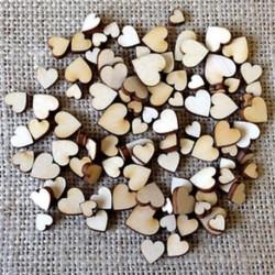 100PCS vegyes méretű szív 3D karácsonyi fa medálok függő fa DIY karácsonyi dekoráció otthon fél dekoráció