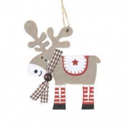 1db világos szürke (10,5 * 9,5 cm) 3D karácsonyi fa medálok függő fa DIY karácsonyi dekoráció otthon fél dekoráció