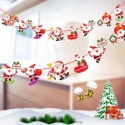 * 7 1PC Mikulás (2m) Karácsonyi party lógó dekoráció hóember Mikulás elk zokni banner dekoráció kellékek