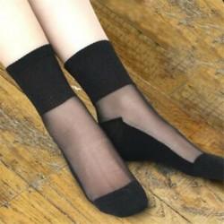 45 Vintage női necc hálós fodros rövid boka magas zokni csipke rövid harisnya