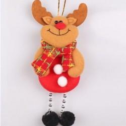 * 2 Elk Karácsonyi díszek Mikulás hóember rénszarvas játék baba Hang dekoráció ajándék