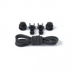 Fekete-fehér 2x Rugalmas cipőfűző cipőfűző cipőfűző cipőfűző cipővel