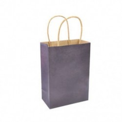 * 2 10 színek újrahasznosítható kraftpapír-ajándéktáska, fogantyú-parti lottózsákokkal