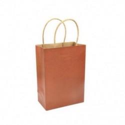 * 4 10 színek újrahasznosítható kraftpapír-ajándéktáska, fogantyú-parti lottózsákokkal