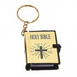Arany Mini Biblia kulcstartók English HOLY BIBLE Vallási keresztény Jézus kereszt kulcstartók